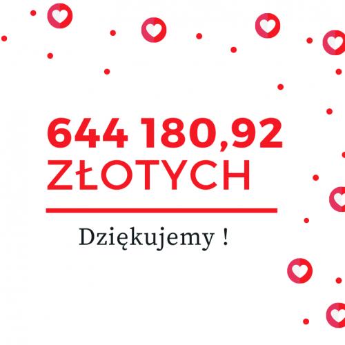 Na naszym koncie jest już 644 180,92 zł. Dziękujemy!